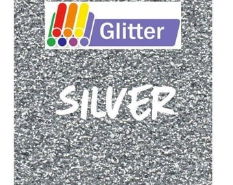 Siser Glitter Heat Transfer Vinyl - Iron On - HTV - Silver