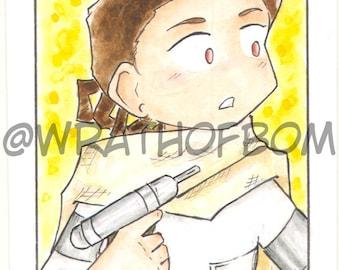 Star Wars Padme Amidala Fan Art Sketch Card