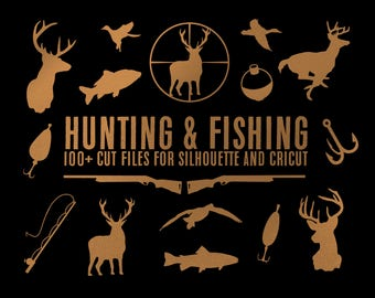 hunting deer duck fishing bundle silhouette svg dxf file instant download silhouette cameo cricut clip art commercial use