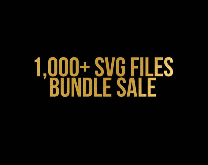Featured listing image: sale // all files in my shop // svg dxf file instant download silhouette cameo cricut clip art commercial use