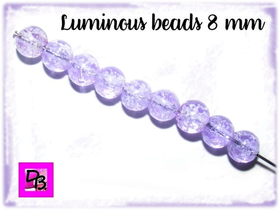 10 perles Luminous [Lilac] 8mm