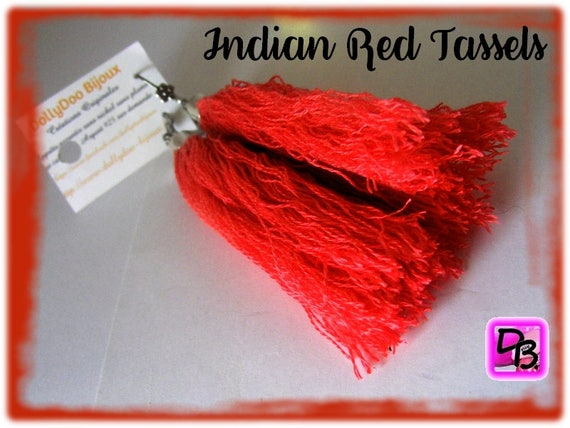 Boucles d'oreilles Pompons [Indian Red Tassels]