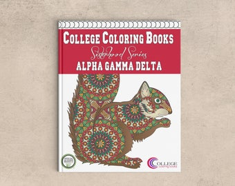 Alpha Gamma Delta AGD Coloring Book | Sorority Recruitment Bid Day Reveal | Big Little Gift | Study Break | Back to School | Greek Licensed