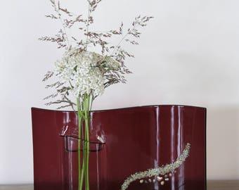 Fused Glass Wave Pocket Vase