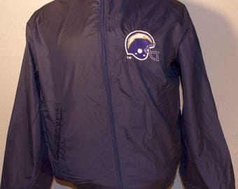 80's San Diego Chargers Logo 7 Windbreaker Jacket Blue Nylon Los Angeles NFL Football