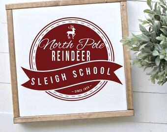 Reindeer Sleigh School SVG