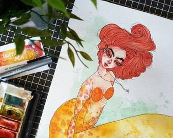 Mermaid / ORIGINAL Artwork