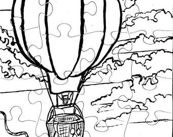 Color-Me Puzzle, Hot Air Balloon