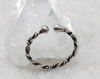 Baldr ring viking silver open ring