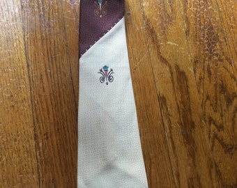 Hand painted Haband 1930s Necktie