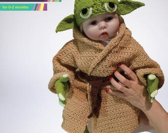 Star Wars Infant Yoda Costume Crochet PDF Pattern, Baby Yoda Costume, Baby Star Wars, Yoda Costume, Crochet Costume, Crochet Pattern Baby
