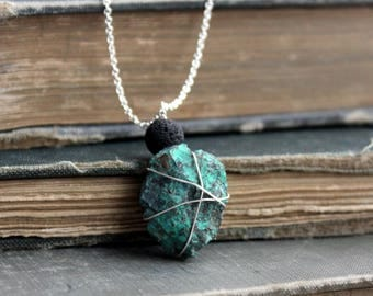 Turquoise Lava Rock Necklace