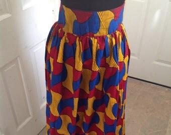 African Print Skirt, Ankara Maxi Skirt, Made to Order Skirt, Summer Maxi Skirt, African Print Skirt, Long Maxi Skirt, African Wax, Custom