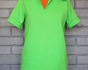 Vintage 1960's 70's Apple green shirt