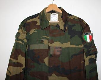 Vintage Italian Camouflage Army Jacket Size L