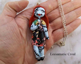 Sally Doll Necklace - The Nightmare Before Christmas Necklace - Sally Necklace - Sally The Nightmare Before Christmas Necklace