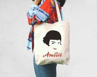 Amélie, Tote Bag - Jean-Pierre Jeunet - Gift for Movie Fan - Amelie fan - Cinephile gift -  Audrey Tautou - Cult Movies - Movie lover gift