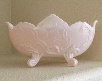 Shell Pink Milk Glass by JEANNETTE Lombardi Bowl