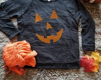 Jack O Lantern Sweater . Halloween Sweater . Pumpkin Face Sweater . JackOLantern Shirt . Halloween Shirt  Jack O Lantern Shirt Pumpkin Shirt