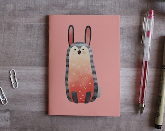NOTEPAD. A6 Cute Rabbit Notepad. Soft 300 gsm Card Cover. 40 blank pages. Matte lamination pleasant to the touch.