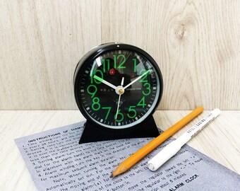 Vintage alarm clock Working clock Mechanical clock Old Chinese Diamond clock Desk alarm clock Retro alarm clock Office decor Home Decor Gift