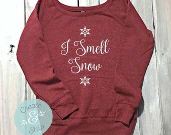 Gilmore Girls Sweatshirt, I Smell Snow Sweater, Off Shoulder