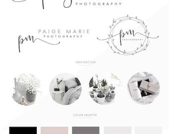 Branding Kit/ branding package/ Logo design/ Watercolor logo design/ Business logo design/ branding/ photography logo/ premade logo/ wedding