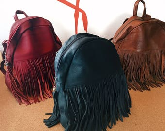 Leather Backpack Women,Leather Rucksack,Leather Bag,Sac à dos en cur,Sac à Dos,City Backpack,Travel Backpack,Leather Purse,Laptop Backpack