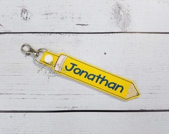Personalized Name Tag-School Backpack Name Tag-Personalized Key Chain-Teacher Gift-Pre-k Kindergarten 1st grade Customized Name Tag Gift