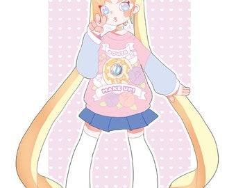 Power Make Up! - Sailor Moon / Usagi Tsukino print