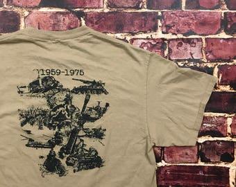 Vintage Vietnam Shirt Vietnam Veterans Vietnam War Memorial Day Veterans Day Mens Medium in Beige Military Shirt