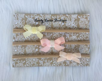 baby bow set, newborn bow set, coming home baby headbands, baby bows