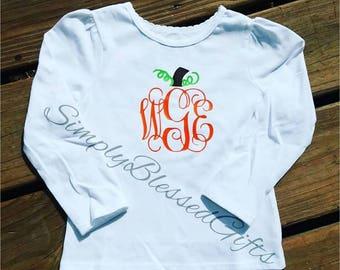 Monogram Pumpkin Shirt or Onesie