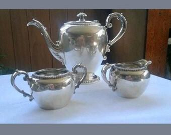 Antique Silver Tea or coffee set COMPLETE! Reed & Barton Silver.