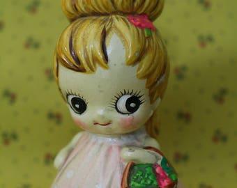 1974 Vintage Josef Originals Birthday Girl Figurine Big Eyes Doll
