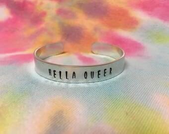 Hella Queer Bracelet - Hella Queer Jewelry - Hella Gay Bracelet - Hella Bracelet - LGBT Bracelet - LGBTQ Jewelry - Queer Gift