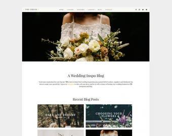 SALE | The Dress | Wedding WordPress Theme | blog, white, gold, clean, modern, website, template