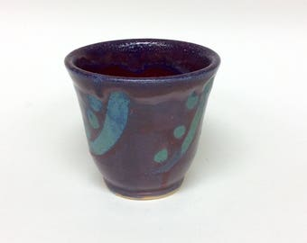 Ceramic cup, ceramic tea cup, tea cup, ceramics, wheel thrown cup, wheel thrown pottery, cup, hand-made cup, purple cup