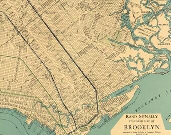 Manhattan MapNew York Map PrintableVintage New York - Us map new york