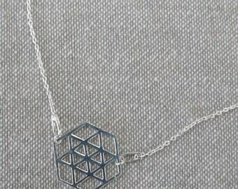 """Hexagon"" fine silver Choker"