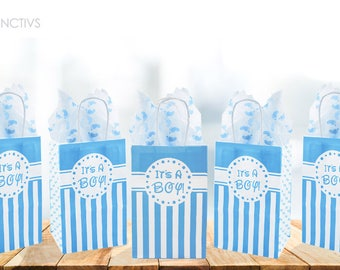 Itu0027s A Boy Baby Shower Favor Bags And Tissue Paper Bundle   Its A Boy Baby