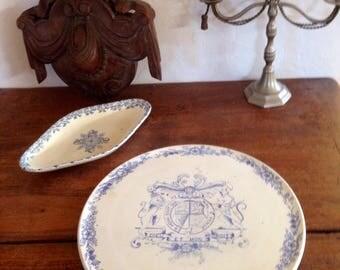 Flat Royal Tudor 1900s / English/RARE collectible tableware