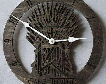 Game of thrones, GoT, Iron Throne, Throne of Swords, Midieval Weapons, Game of Thrones, Thrones clock, Swords, Men Gift