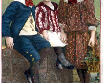 Chromo 19e century's children