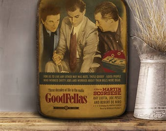 Goodfellas, Scorsese, Wooden hanging frame