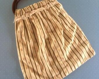 Vintage Knitting Bag - Craft Storage Bag - Knitting Needle Holder - Balls of Wool Carrier