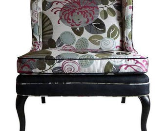 One of a Kind Vintage Slipper Chair