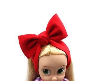 Baby Girl Headband, Big Ribbon Headband, Red Headband, Gifts for Baby
