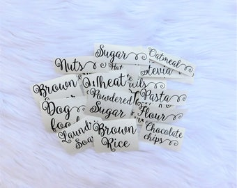 Pantry Labels, Container Labels, Pantry Organization, Pantry Decals, Kitchen Labels, Kitchen Decal, Custom Decals, Kitchen Decals, Custom Pa