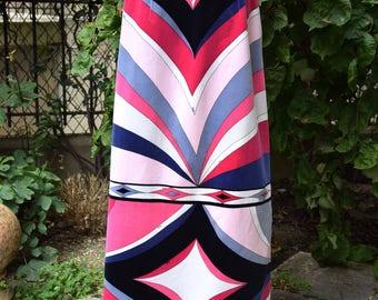 EMILIO PUCCI 1970 Velvet Maxi Skirt